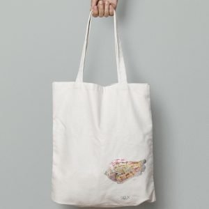 Tote bag caracol rainbow, diseño Salix