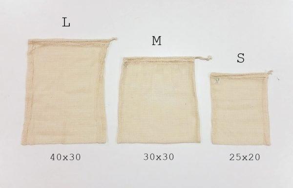 bolsas malla eco diferentes medidas