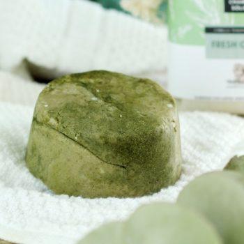 champú sólido, solid green