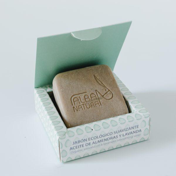 Jabón sólido natural de almendra y lavanda. Neathea