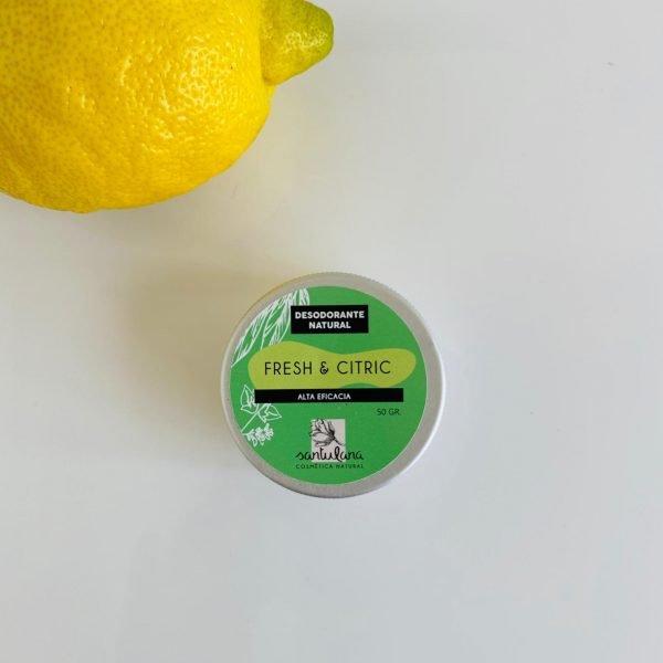 desodorante natural en tarro. Fresh and citric