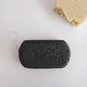 Esponja Konjac natural de carbon activo ovalada - Banbu