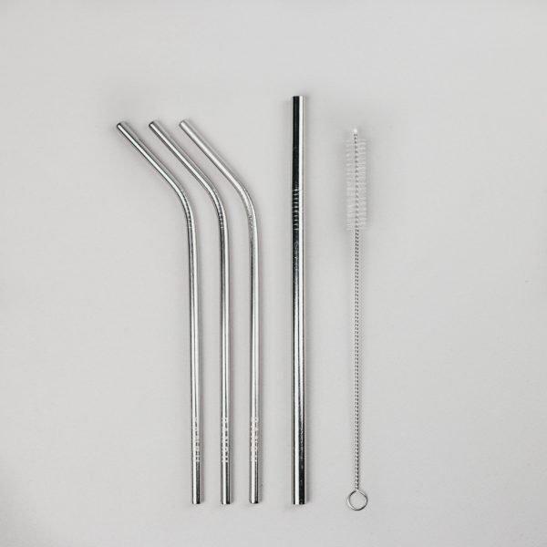 Set pajitas acero inoxidable con cepillo limpiador - Banbu