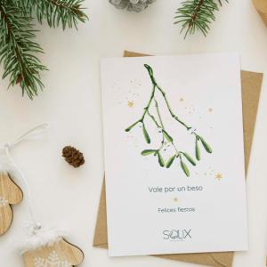 Tarjeta plantable Navidad diseño propio Salix - Bridepalla