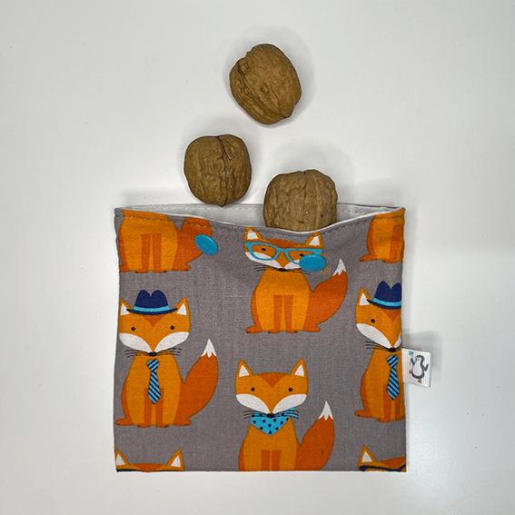 Nueces en bolsa snack estampado fox - The Zappy Penguin